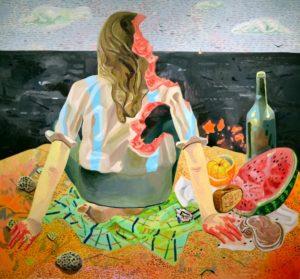 Painting by Dana Scutz