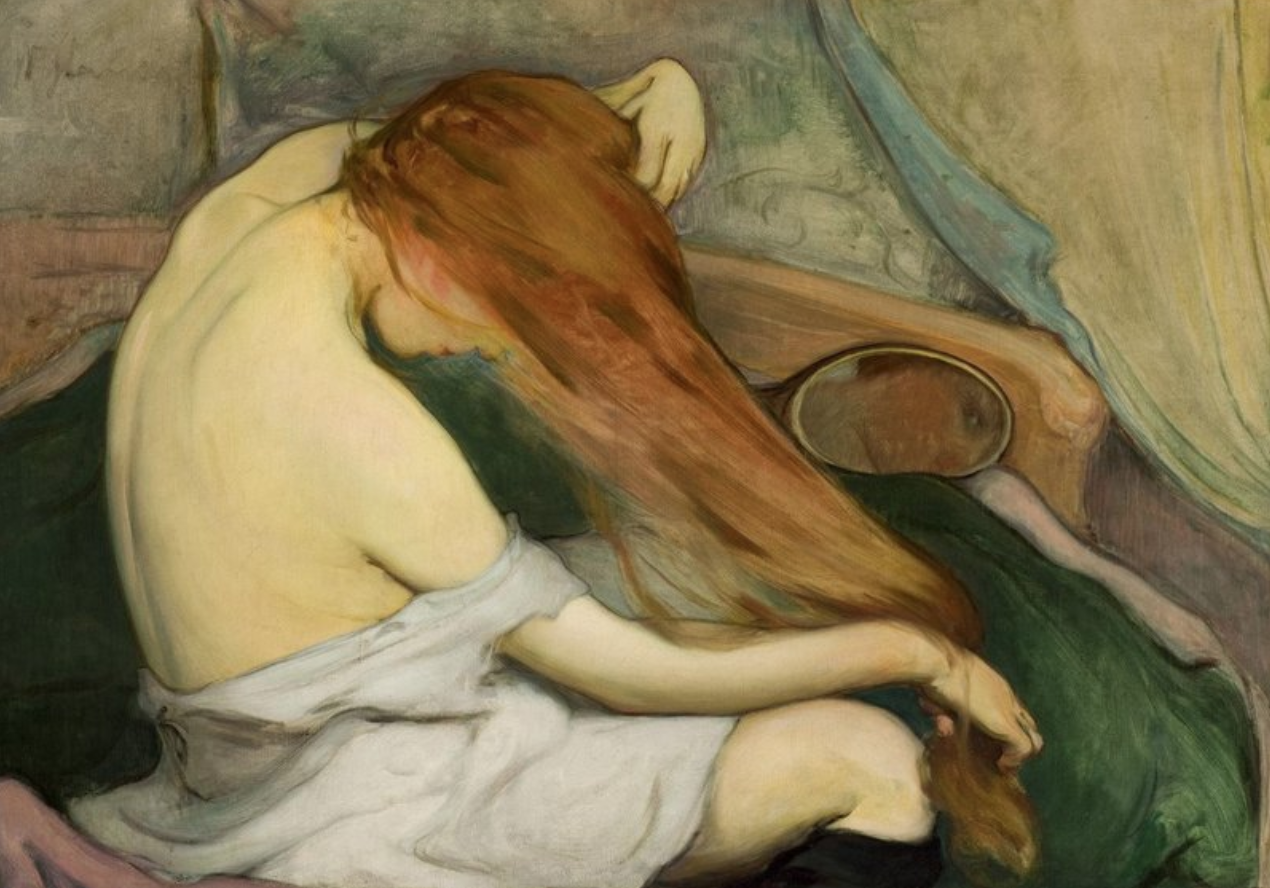 Woman Combing Her Hair (1897) by Wladyslaw Slewinski